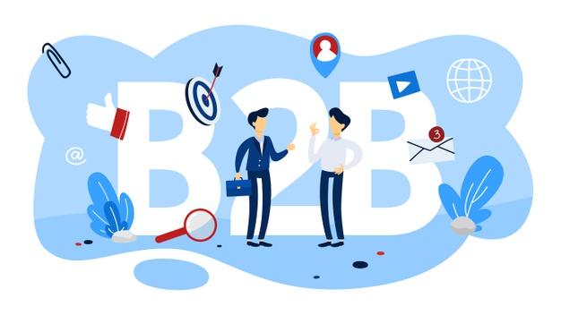 b2b-concept-business-business-way-communication-marketing-strategy-commerce-company-as-customer-flat_277904-1081